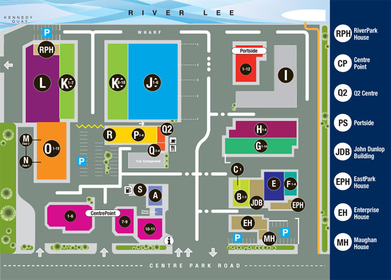 Map of the Marina Commercial Park
